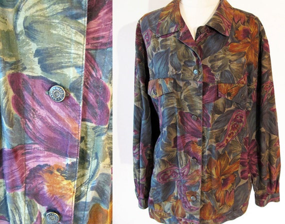 Vintage shirt jacket / 80s shirt / vintage Banana Republic Safari and Travel