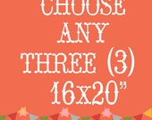 "Three 16x20"" Customize Any Print. Home Decor. Fine Art Photograph. Summer Home Decor."