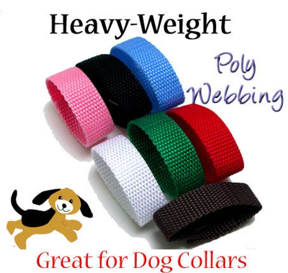 """3/4"""" Wide Heavy-Weight Poly Webbing .... Perfect for Making Dog Collars and Leashes .... You Choose Your Color"""