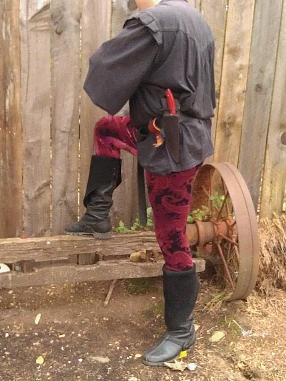 Men's Limited Edition Paisley Velvet Leggings - New Print