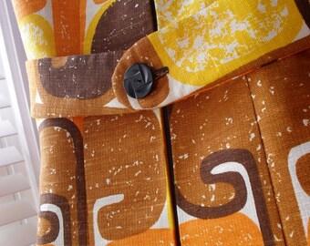Retro MOD Dress Mustard Handmade