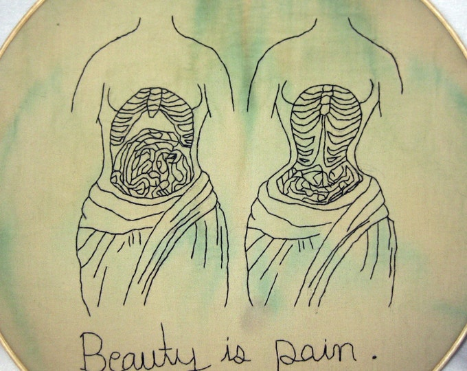 Beauty is Pain - Victorian Inspired Embroidery