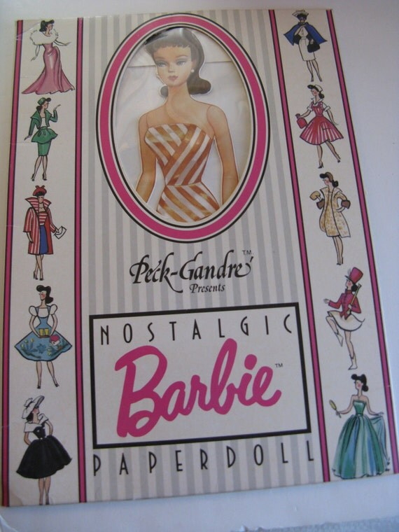 Vintage Barbie Doll Brunette Paper Dolls
