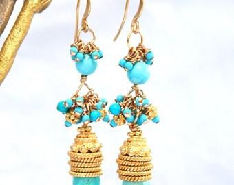 Sleeping Beauty Turquoise Earrings:) Bridal Earrings, Statement Earrings, Turquoise Earrings