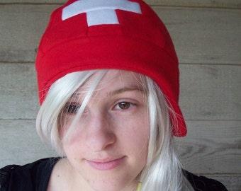 Switzerland Style Flag Hat - Fleece Hat Adult, Teen, Kid - A winter, Christmas, nerdy, geekery gift!