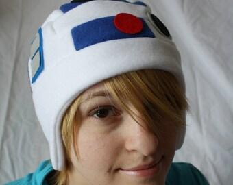 R2D2 Star Wars Hat - Fleece Hat Adult, Teen, Kid - A winter, nerdy, geekery gift!