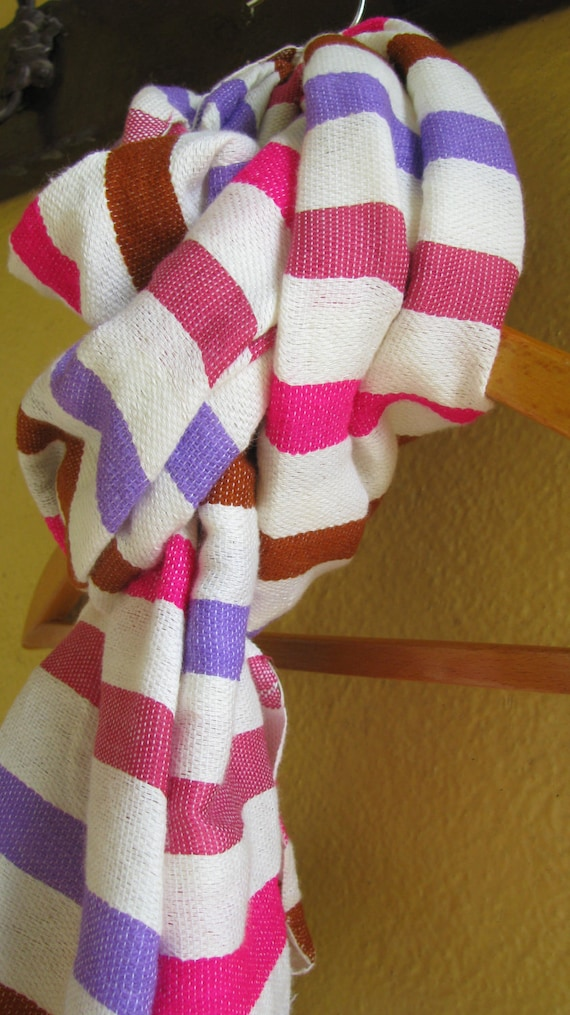 Reserved for Silkscroll Ching / 4 scarves with 15% discount. Cotton Wool Multicolor Pink Violet Fuchsia -  4 scarves Reserved for ching.