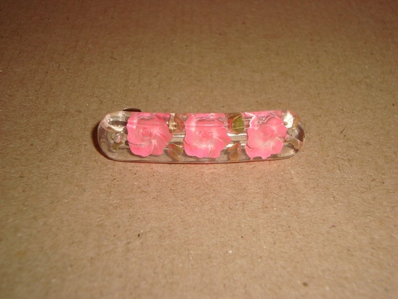 Lovely Pink Rose Barrettes
