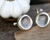 Wedding Fingerprint Nugget Cufflinks - wedding cuff links, silver cuff links, custom cuff links, groom cuff links