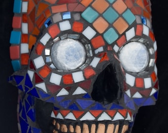 Skull. Mosaic. Day of the Dead.