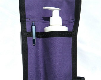 Made to Order -  1.5 Pocket Solid Massage Oil Holster with Belt  -  Any Color