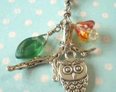Owl Necklace, Bird Necklace, Owl Charm Necklace, Owl Pendant, Owl Charm, Harry Potter Hedwig