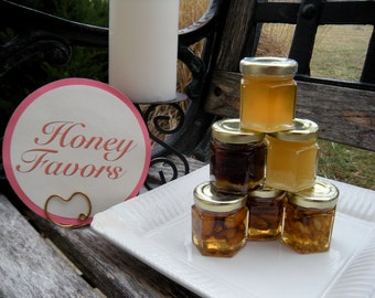 Graduation Party Honey Favors, Retirement Party Favors, Birthday Party Honey & Nut Jar Favors, 30 Jars
