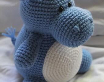 Hilda the Hippo - Crochet Amigurumi PATTERN ONLY (PDF)