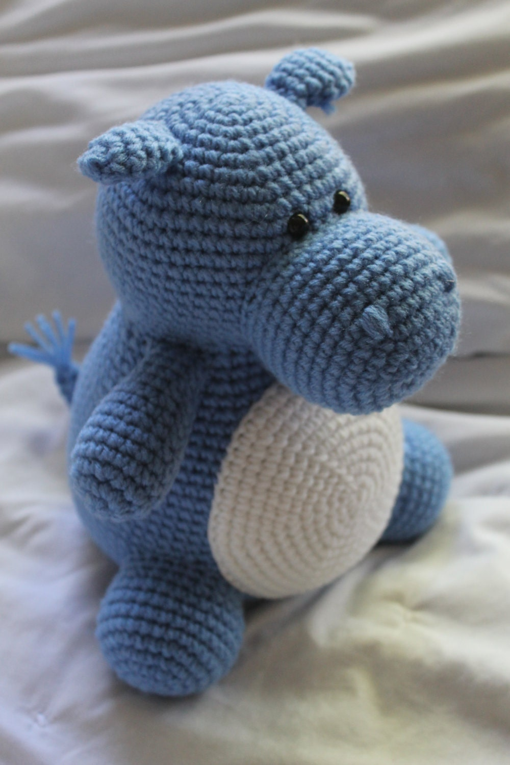 Hilda the Hippo Crochet Amigurumi PATTERN ONLY by daveydreamer