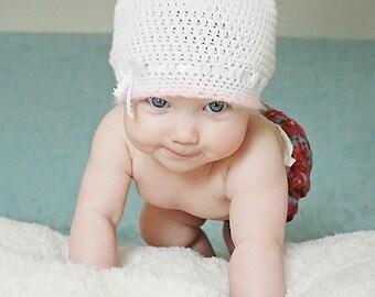 """Baby Crochet Hat Pattern:  """"Mimi Mouse"""", Crochet Beanie with ears"""