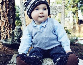 Crochet Baby Toque Pattern: 'Wee Westcoaster' Crochet Hat