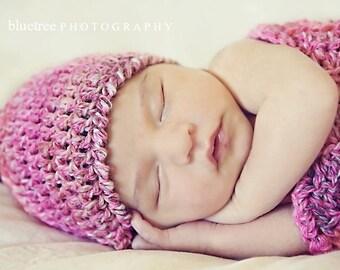 Newborn Crochet Pattern: 'Sweetpea's Hat & Wrap', Easy Crochet, Photo Prop