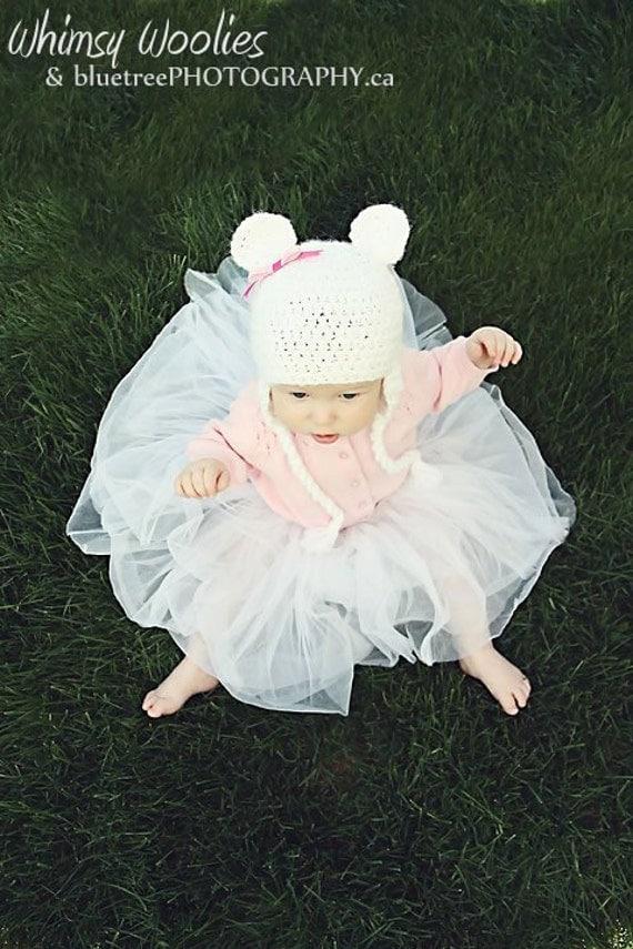 Crochet Hat Pattern: 'Marshmallow Bear' Crochet Baby Hat