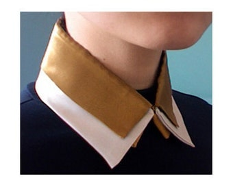 Detachable collar necklace, double layers golden mustard pearl