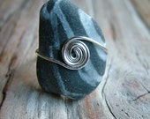 Beach Stone Ring Size 6