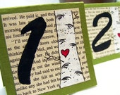 10 Handmade Table Cards -3x3 -Love Birch in Sage Green -Woodland Wedding Decor -Table Number Cards