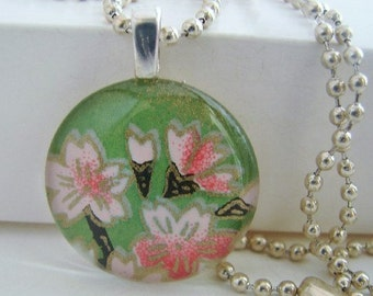 Cherry Blossom Pendant with Free Necklace