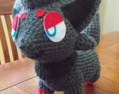 Pokemon amigurumi crochet Zorua doll.
