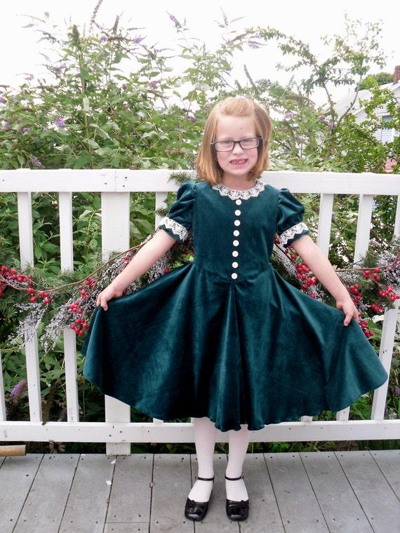 Dress Like Molly/ American Girl Molly's Surprise Velvet Molly Hooper Christmas Dress