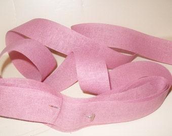 "Vintage PURPLE Ribbon Burlap Easter Wedding 7/8"" Rustic Hopsack Gift Wrapping Craft Primitive Bow Jute Mesh Dusty LAVENDER  25 YD"