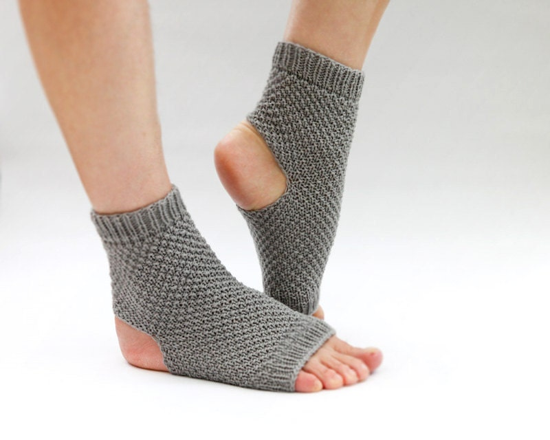Free Crochet Pattern Toeless Socks : Toeless Socks Grey Toeless Socks Wool Socks Yoga Socks