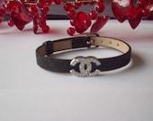 Designer Inspired Rhinestone Charm Bracelet