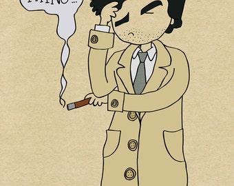 Columbo - One More Thing - Illustration Print