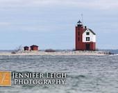 Round Island Lighthouse Mackinac Michigan - 4x6 photo print