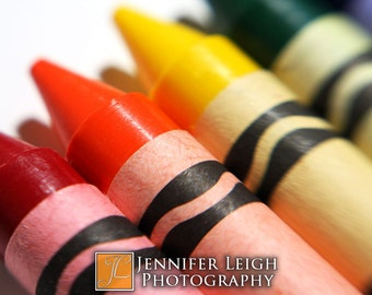 Colorful Crayons - 8x10 Fine Art Photographic Home Decor Print