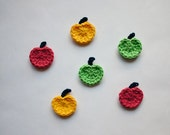 Instant Download - PDF Crochet Pattern -  Apple Applique - Text instructions and SYMBOL CHART instructions