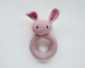 Bunny Rattle - PDF Crochet Pattern - Instant Download - Animal Rattle Crochet Nursery Baby Shower