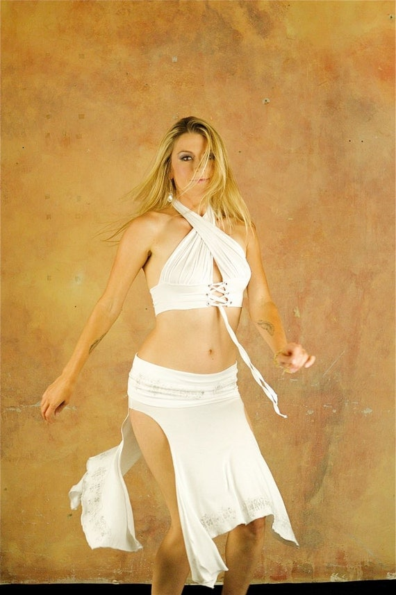 Alexa Layering Skirt with Handprinting, Other Colors, Convertible,  Bellydance, Dance, Salsa, Fairy Costume, Performance wear, Other Colors