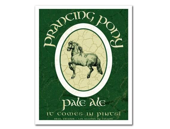 Middle Earth Microbrews: Prancing Pony Pale Ale - 8x10 print