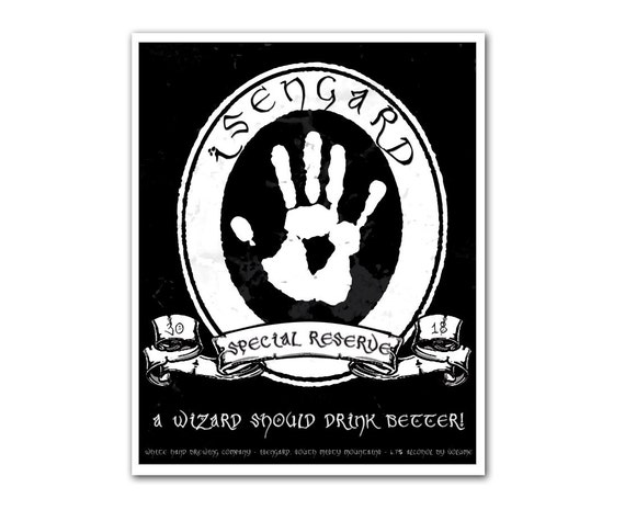 Middle Earth Microbrews: Isengard Special Reserve - 8x10 print