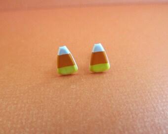 Halloween Candy Corn Stud Earrings Mini, Halloween stud earrings,