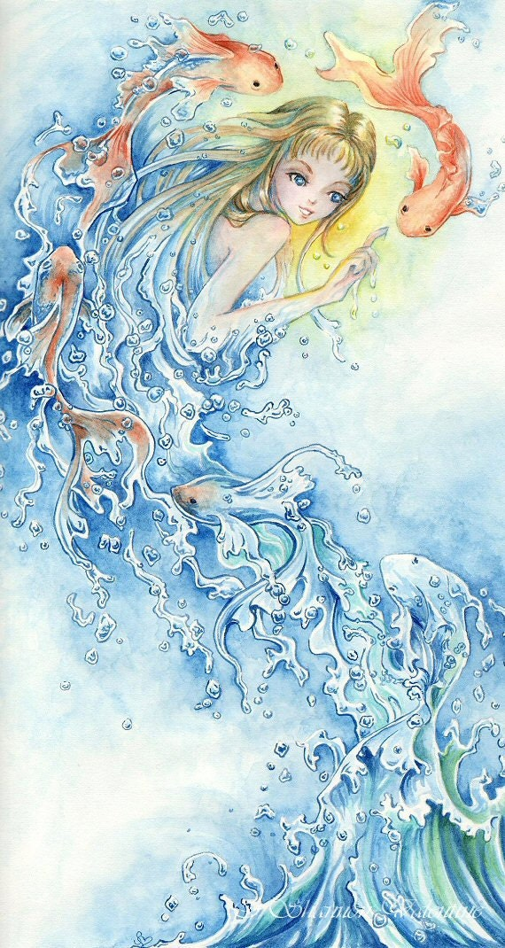 """4x8 Fantasy Art Print """"Water"""""""