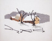 Winters Wonderland Country Snow Scene Cross Stitch Picture
