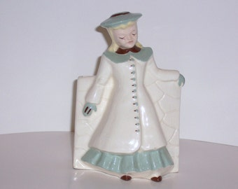 Girl Planter 1940's Collect Vintage