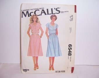1979 McCall's Carefree Pattern Dress 6548 Size 12 Used Free U.S. Shipping