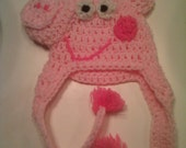 Made To Order  Pig Crocheted Hat
