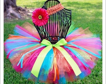 Carousel Tutu, READY TO SHIP in Size 12-24M, Rainbow Tutu, Baby Girls Tutu, 1st Birthday Tutu Outfit, Candyland, Dress up Tutu Skirt