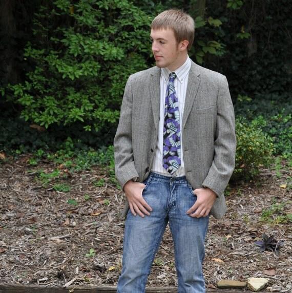 Blazer Coat Mens Mens Tweed Blazer Herringbone