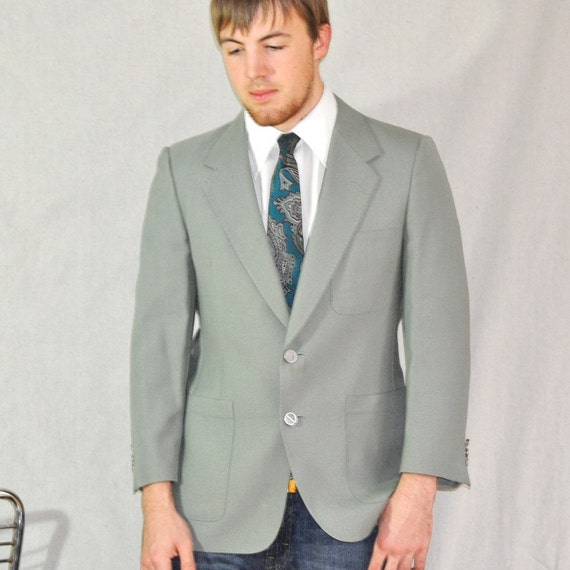Reserved for Max only. Mens Blazer 38S Vintage Dior Hip Mod Sport Coat Sage