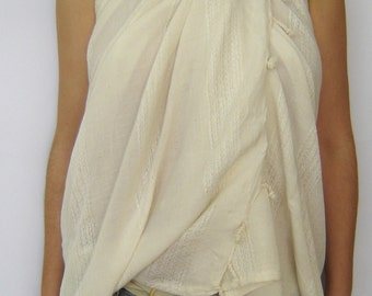 Bridesmaids gift Turkish Towel, Pareo, Sarong on the boat, peshtemal, Beach Party, Gift, Organic Silk and Cotton, White, summer coverups,